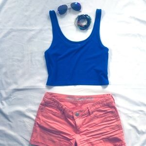 Blue Crop Top from Express